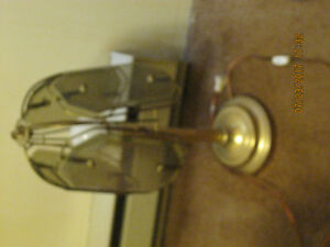 older lamps 3.00 OBO and a clock