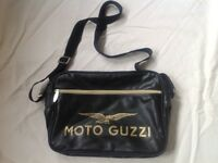 black faux leather shoulder / cross body bag. ed front compartment.