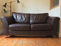 M&S Abbey Leather Sofa Bed
