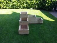 HERB, FLOWER, BULB, LARGE PLANTER BRAND NEW. CORNER SHAPED. QUALITY HEAVY DUTY TREATED TIMBER.
