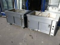 2 x Hot Cupboards - Sold as Pair