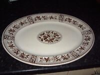 large meat server plate, brown. no chips or cracks, Ideal for barbecues, £10