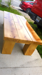 Solid Knotty Pine Coffee Table