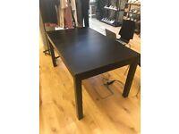 Black ikea dining table 138x84 cm