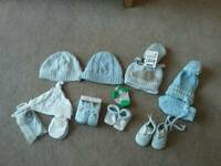 Baby boys hats gloves and shoes