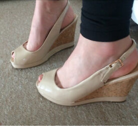 Nude wedges from Matalan