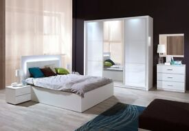 SALINAS Brand New White High Gloss SLIDING DOOR WARDROBE Delivery 1-10 days We Can Delivered