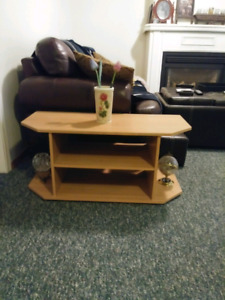 Media/TV Stand. Two Shelves with 2 sided Storage