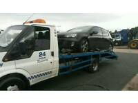 Recovery broken down aa rac car recovery brought a car