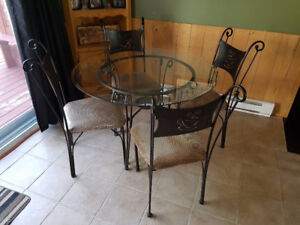 table en vitre - glass table