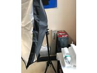 125w 5400k daylight continuous lighting softbox with tripod x2