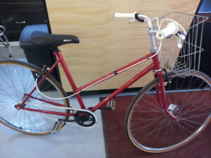 Cute Vintage Single Speed Retro Cruiser with Basket