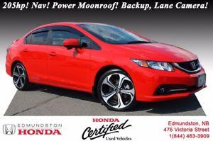 2014 Honda Civic Sedan Si i-VTEC - 205hp! Navigation! Power Moon