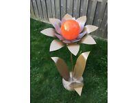 Large Flower Sculpture Ornament with Solar Light Option