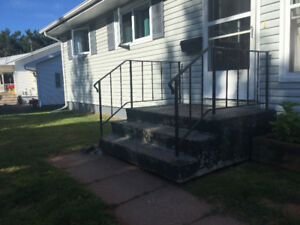 Free concrete front step!