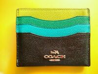 Leather Coach New York wallet