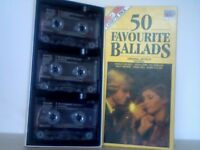 VARIOUS ARTISTS - 50 FAVOURITE BALLARDS ; 1985 EMI TRIO TR 4115544 / TR 4115554 / TR 4115564