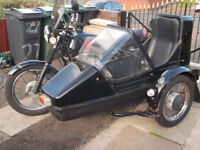 motorbike and sidecar jawa 350ts combination
