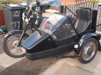 motorbike and sidecar jawa 350ts combination