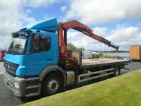 2010 MERCEDES AXOR 18-24 EURO 5 DAY CAB FLAT BODY AND CRANE