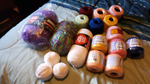 Wool and crochet cotton/thread
