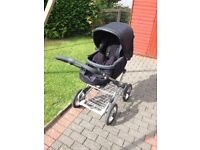 3in1 Silver Cross Travel System- park, car seat and carry cot.