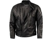 """Mens Armoured Leather Motorcycle Jacket (52"""") By Skintan RRP: £130.00"""