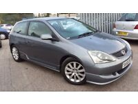 2005 HONDA CIVIC 1.6 i-VTEC SPORT 3 door Hatchback ** FULL BODYKIT ** LOVELY CAR. (not ibiza type r)