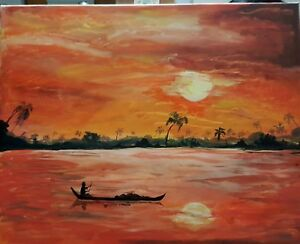 acrylic painting on 16x 20 inch canvas