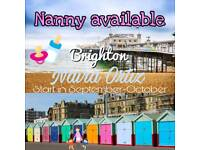 Nanny available for start in September
