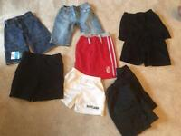 Boy's shorts x 9 pairs ( variety of ages)