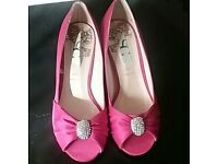 Pink diamanté ladies shoes size 5