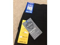 Boys flat front skinny leg black school trousers age 12/13 Marks and Spencer's