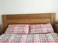 M&S king size sonoma oak bed frame