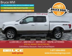 2015 Ford F-150 LARIAT 5.0L 8 CYL AUTOMATIC 4X4 SUPERCREW LEATHE