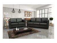 LEATHER SOFAs 3+2 black or brown BRAND NEW