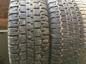 2 Nordic winter tires. 215-75-15 Inch