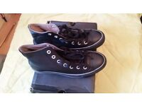 black Converse boots/trainers