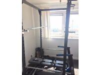 Bodymax CF375 Power Rack and York Fitness bench