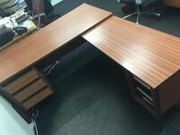 Used executive office desk L shaped
