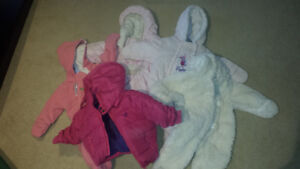 Baby girl winter items 0-6 months