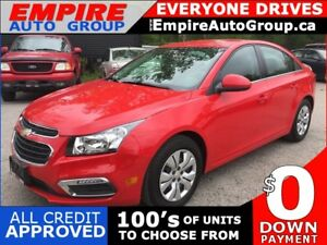 2015 CHEVROLET CRUZE 1LT * REAR CAM * BLUETOOTH * PREMIUM CLOTH