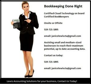 Bookkeeping Done right! Cloud accounting specialists