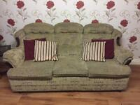 Suite of Furniture 3,1,1 Fabric 3 Seater Sofa and 2 Armchairs