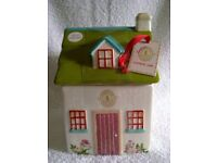 Marks & Spencer Kirstie Allsopp Hand Painted House Cottage Cookie Jar, Brand New