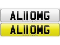 RARE private number plate (ALI OMG)