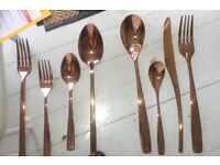 ***SPECIAL ROSE GOLD PACKAGE DEAL***ROSE GOLD CUTLERY & ROSE GOLD RIMMED PLATES OFFER***