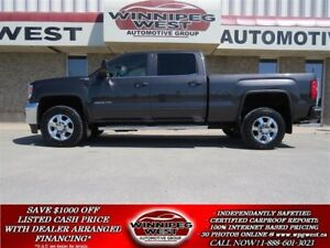 2015 GMC SIERRA 2500HD SLE+ CREW 4x4, HEATED SEATS, 1-OWNER, HD