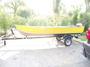 Selling my 1994 14` Harbercraft+15 HP Evinrude+2017 trailer
