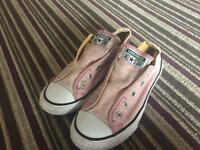 Girls Converse Pink Trainers - Size 1